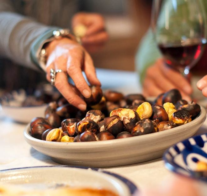 kulinarium-austria: kastanien, suedtirol, toerggelen