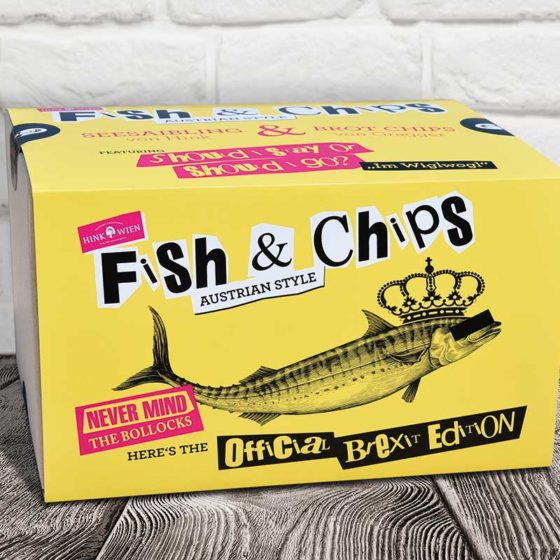 kulinarium austria, brexit, fish & chips box