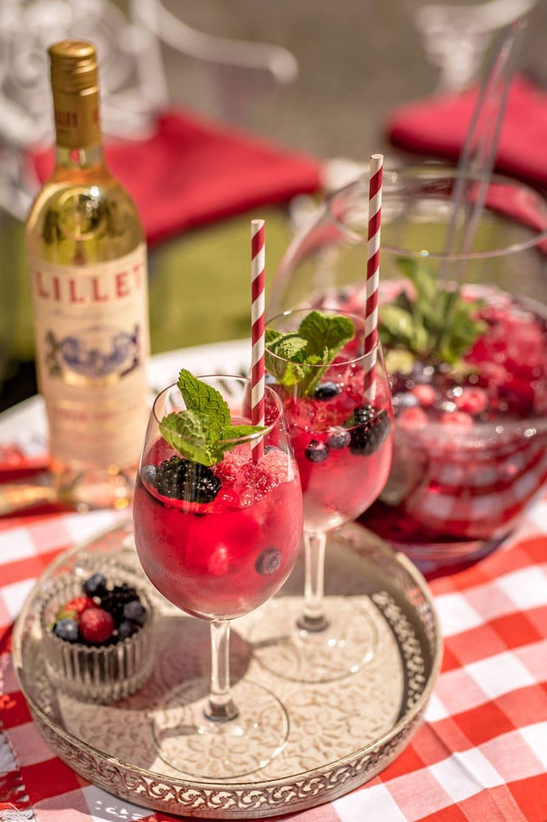 kulinarium austria, lillet bowle, sommer trend, rezept