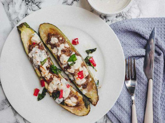 yellofromtheegg, schnelle kueche, gefuellte zucchini