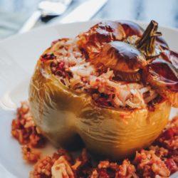 yellofromtheegg, rezept, rezept gefuellte paprika, gefuellte paprika einfach, gesund kochen