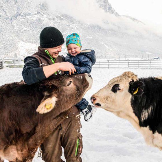 Matthias Schöpf liebt seine Familie und seine Tiere